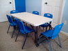 Kids Table 6 Blue Chairs