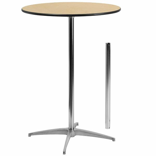 30'' Round Wood Cocktail Table  AVAILABLE 6-20-2019